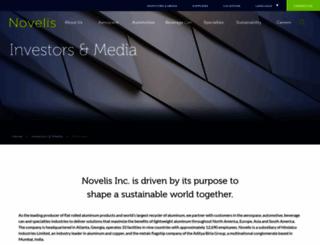 novelis.mediaroom.com screenshot