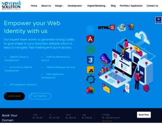 novelwebsolution.com screenshot