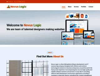 novuslogic.co.in screenshot