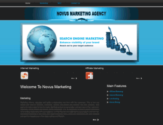 novusmarketingagency.com screenshot
