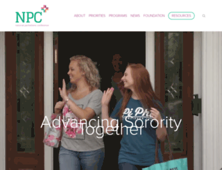 npcwomen.org screenshot