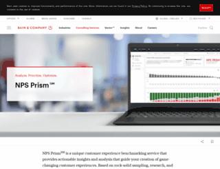 npsbenchmarks.com screenshot