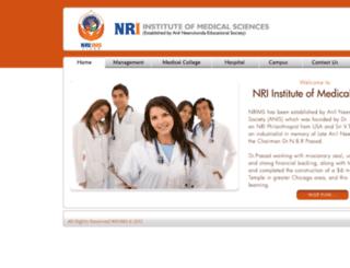 nriims.in screenshot