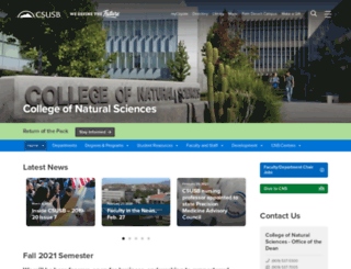 nsci.csusb.edu screenshot