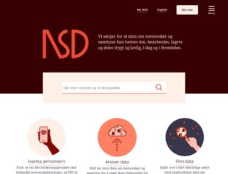 nsd.uib.no screenshot