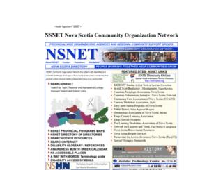 nsnet.org screenshot