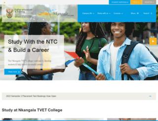 ntc.edu.za screenshot