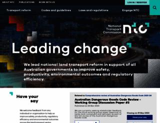 ntc.gov.au screenshot