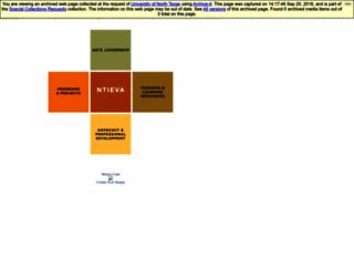 ntieva.unt.edu screenshot