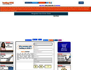 ntse.testbag.com screenshot