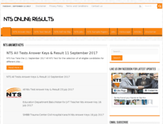 ntsonlineresults.com screenshot