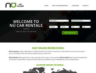 nucarrentals.com screenshot