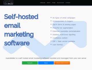 nuevomailer.com screenshot