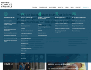 nuffieldbioethics.org screenshot