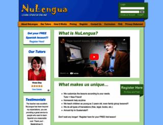 nulengua.com screenshot
