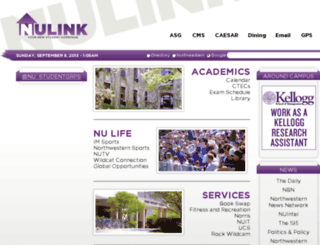 nulink.northwestern.edu screenshot
