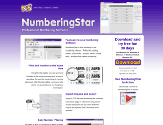 numberingstar.com screenshot