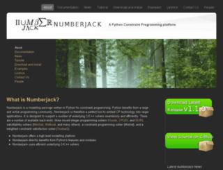 numberjack.ucc.ie screenshot