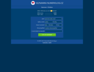 numerolog.cz screenshot
