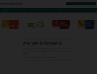 nummergegenkummer.de screenshot