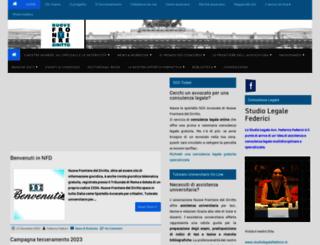 nuovefrontierediritto.it screenshot