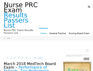 nurseprcexamresults.com screenshot