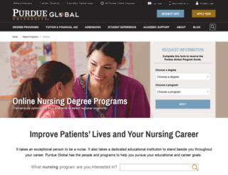 nursing.kaplan.edu screenshot