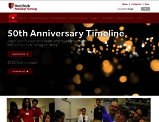 nursing.stonybrookmedicine.edu screenshot
