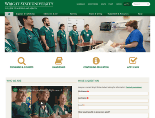 nursing.wright.edu screenshot