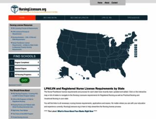 nursinglicensure.org screenshot