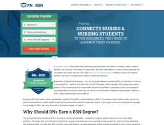 nursingschools.net screenshot