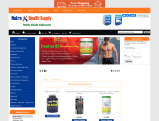 nutrahealthsupply.com screenshot