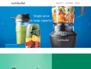 nutribullet.co.za screenshot