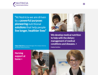 nutricia.co.uk screenshot