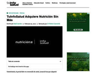 nutricionsinmas.com screenshot