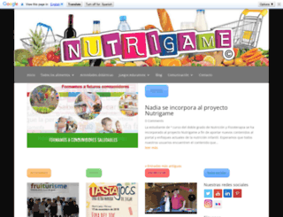 nutrigame.es screenshot