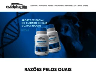 nutripharme.com.br screenshot