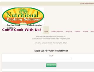 nutritionalcookingsolutions.net screenshot