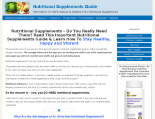 nutritionalsupplementsguide.org screenshot