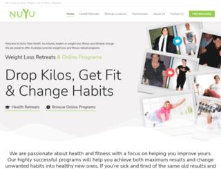 nuyutotalhealth.com.au screenshot