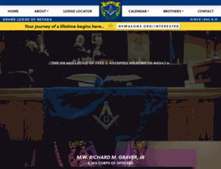 nvmasons.org screenshot