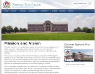 nwc.ndu.edu screenshot