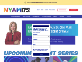 nyam.org screenshot