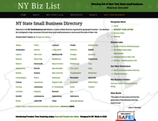nybizlist.com screenshot
