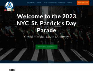 nycstpatricksparade.org screenshot