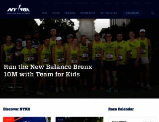 nyrr.org screenshot