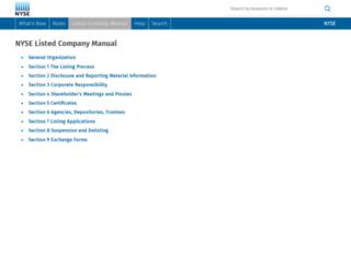 nysemanual.nyse.com screenshot