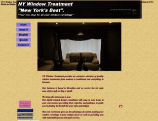 nywindowtreatment.com screenshot