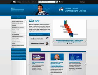 nzcurriculum.tki.org.nz screenshot