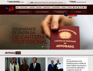 oabgo.org.br screenshot